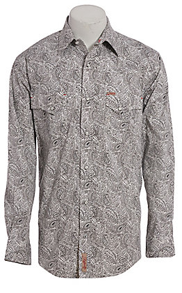 Rafter C ProFlex45 Men's Grey Paisley Long Sleeve Western Shirt