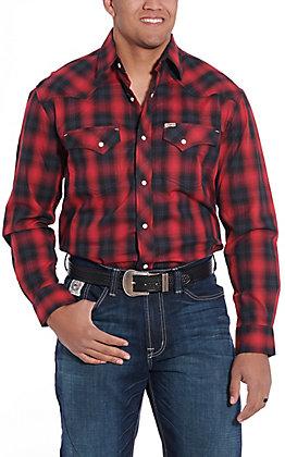 Rafter C ProFlex45 Men's Red Plaid Long Sleeve Western Shirt