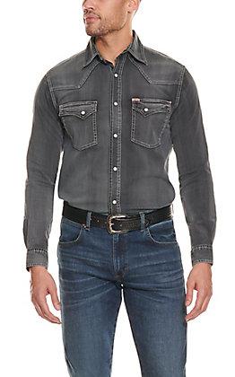 Rafter C ProFlex45 Men's Washed Black Long Sleeve Stretch Western Shirt
