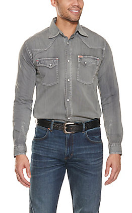 Rafter C ProFlex45 Men's Washed Grey Long Sleeve Western Shirt