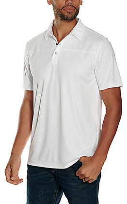 Rafter C Men's White Short Sleeve Polo Shirt
