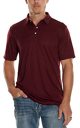 Rafter C Men's Burgundy Short Sleeve Polo Shirt