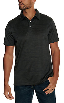 Rafter C Men's Heather Grey Short Sleeve Polo Shirt