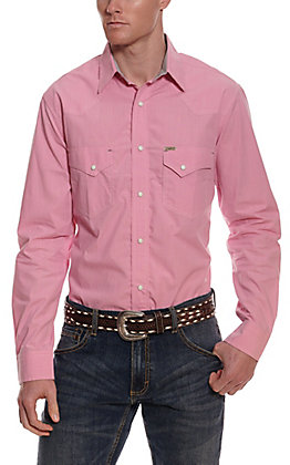 Rafter C ProFlex45 Men's Pink Chambray Long Sleeve Western Shirt
