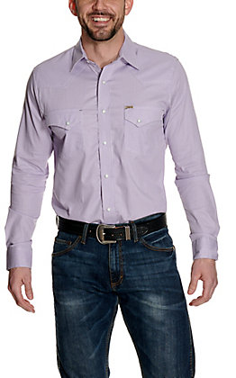 Rafter C ProFlex45 Men's Purple and White Stripes Long Sleeve Western Shirt