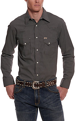 Rafter C ProFlex45 Men's Black XO Print Long Sleeve Western Shirt