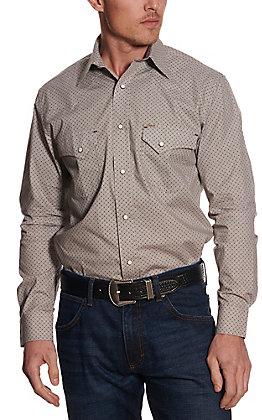 Rafter C ProFlex45 Men's Khaki Geo Print Long Sleeve Western Shirt