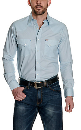 Rafter C ProFlex45 Men's Turquoise with Blue Micro Diamond Print Long Sleeve Western Shirt