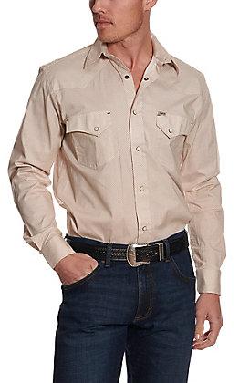 Rafter C ProFlex45 Men's Khaki Mini Geo Print Long Sleeve Western Shirt
