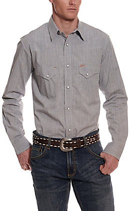 Rafter C ProFlex45 Men's Grey Chambray Long Sleeve Western Shirt
