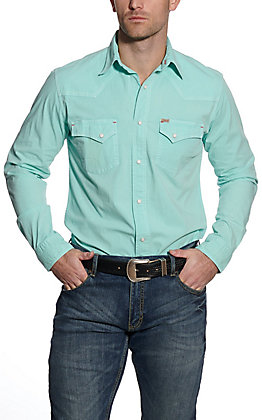 Rafter C ProFlex45 Men's Washed Turquoise Long Sleeve Western Shirt