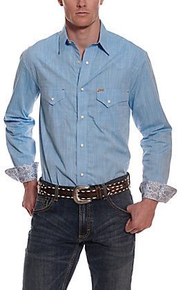 Rafter C ProFlex45 Men's Blue Chambray Long Sleeve Western Shirt