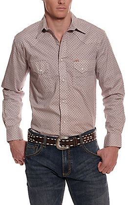 Rafter C ProFlex45 Men's White with Geo Print Long Sleeve Western Shirt