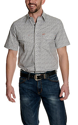 Rafter C ProFlex45 Men's Grey and White Paisley Short Sleeve Western Shirt