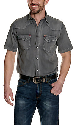 Rafter C ProFlex45 Men's Wash Grey Short Sleeve Western Shirt