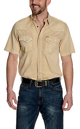 Rafter C ProFlex45 Men's Wash Khaki Short Sleeve Western Shirt