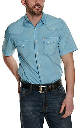 Rafter C ProFlex45 Men's Washed Blue Short Sleeve Western Shirt