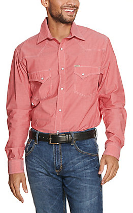 Rafter C ProFlex45 Men's Red Chambray Long Sleeve Stretch Western Shirt