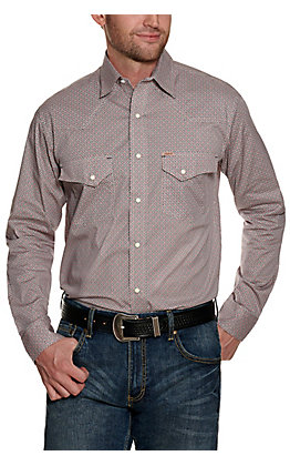 Rafter C ProFlex Stretch Men's Grey Paisley Long Sleeve Western Shirt