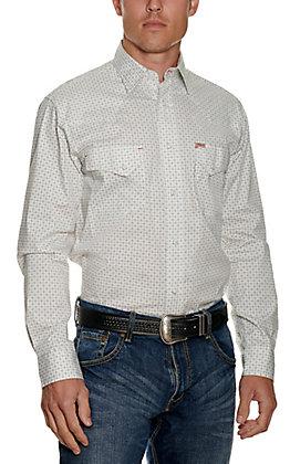 Rafter C Men's ProFlex45 Black Geo Print Long Sleeve Western Shirt