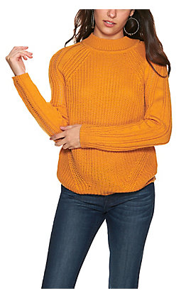 Rockin' C Gold Shaker Stitch Long Sleeve Sweater