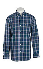 Rafter C ProFlex45 Men's Dark Teal Plaid L/S Western Shirt