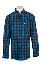 Rafter C ProFlex45 Men's Black and Blue Plaid L/S Western Shirt