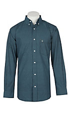 Rafter C ProFlex45 Men's Light Blue and Black Geo Print L/S Western Snap Shirt