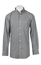 Rafter C ProFlex45 Men's Navy and White Diamond Print L/S Western Snap Shirt
