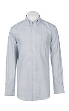 Rafter C ProFlex45 Men's Light Blue and Grey Geo Floral L/S Western Shirt