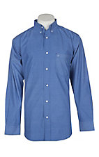 Rafter C Men's Blue Floral Geo Print L/S Western Shirt