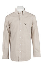 Rafter C Men's ProFlex Stretch Khaki Mini Floral Long Sleeve Western Shirt