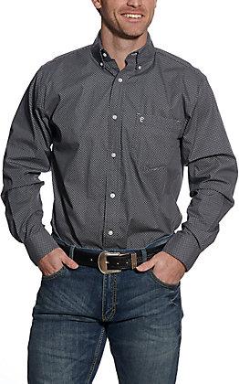 Rafter C ProFlex45 Men's Grey Geo Print Long Sleeve Western Shirt