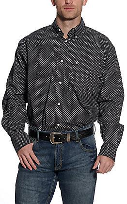 Rafter C ProFlex45 Men's Black Geo Print Long Sleeve Western Shirt