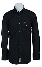 Rafter C Cowboy Collection Men's L/S Western Snap Shirt RCCCMBLK