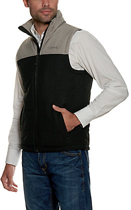 Rafter C Men's Black and Grey Puff Softshell Vest