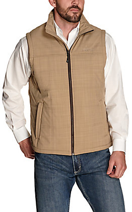 Rafter C Men's Tan Concealed Carry Puff Softshell Vest