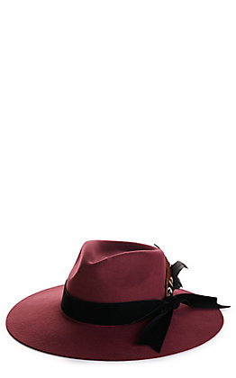 Rockin' C Women's Danielle Burgundy with Velvet Band Western Hat