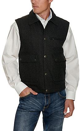 Cavender's Men's Black Wool Rancher Vest