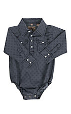 Rafter C Infant Grey Medallion Print Long Sleeve Onsie