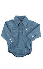 Rafter C Infant Blue Long Sleeve Western Snap Onsie