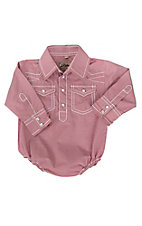 Rafter C Infant Red Gingham Long Sleeve Western Snap Onsie