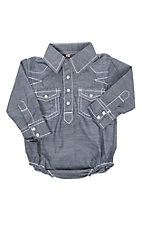 Rafter C Infant Indigo Chambray Onesie
