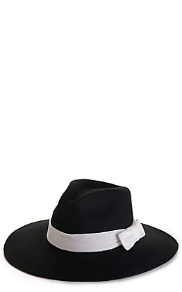 Rockin' C Women's Jackie Black with Ivory Velvet Band Western Hat