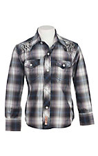 Rafter C Cowboy Collection Kids L/S Western Snap Shirt