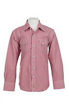 Rafter C Cowboy Collection Kids Red Gingham Western Snap L/S Shirt