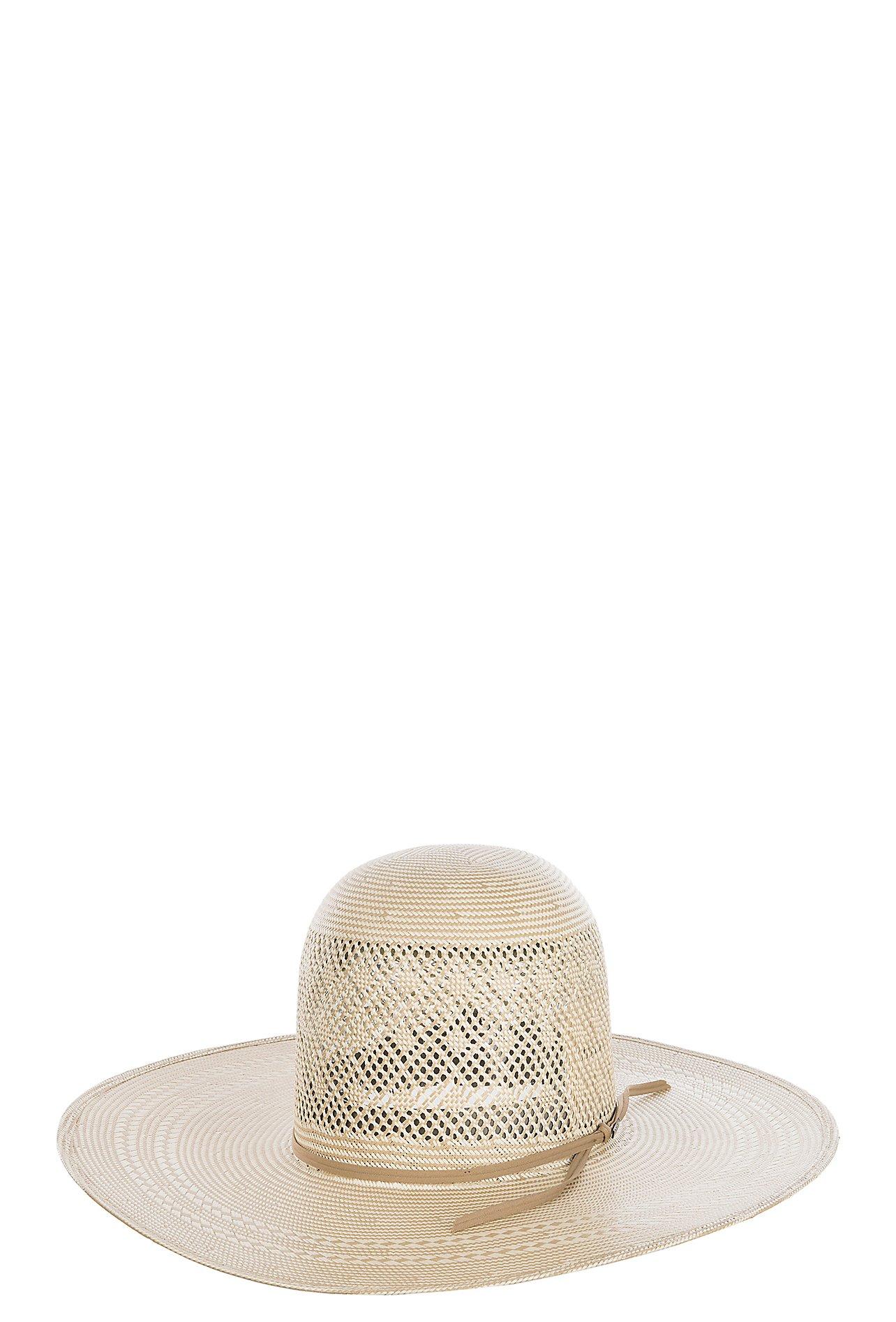 Resistol Men s 20X Clayton Vented Open Crown Straw Cowboy Hat ... 558b1b310de