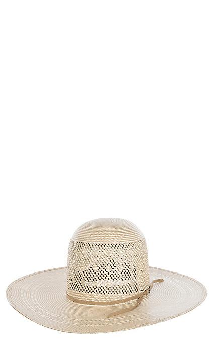 b484fcfb4 Resistol Men's 20X Clayton Vented Open Crown Straw Cowboy Hat