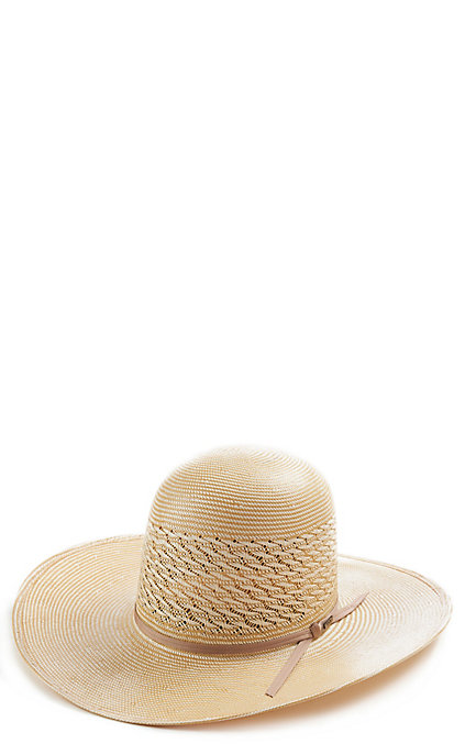 5de7fbf47 Resistol Tuff-Anuff 20X Ivory/Wheat Cougar Open Crown Straw Hat