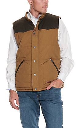 Rafter C Cowboy Collection Men's Camel Two Tone Insulated Vest